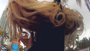 sexy blonde public agent