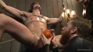 lesbian bondage butt plug