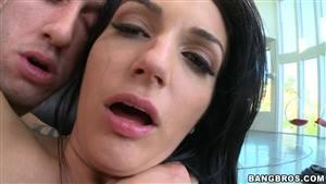 black hair blue eyes anal